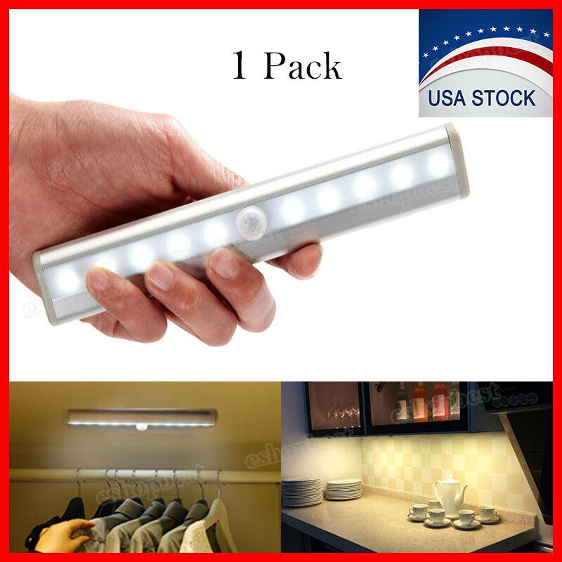 10 LED Motion Sensor Closet Light Wireless Night Cabinet Lam