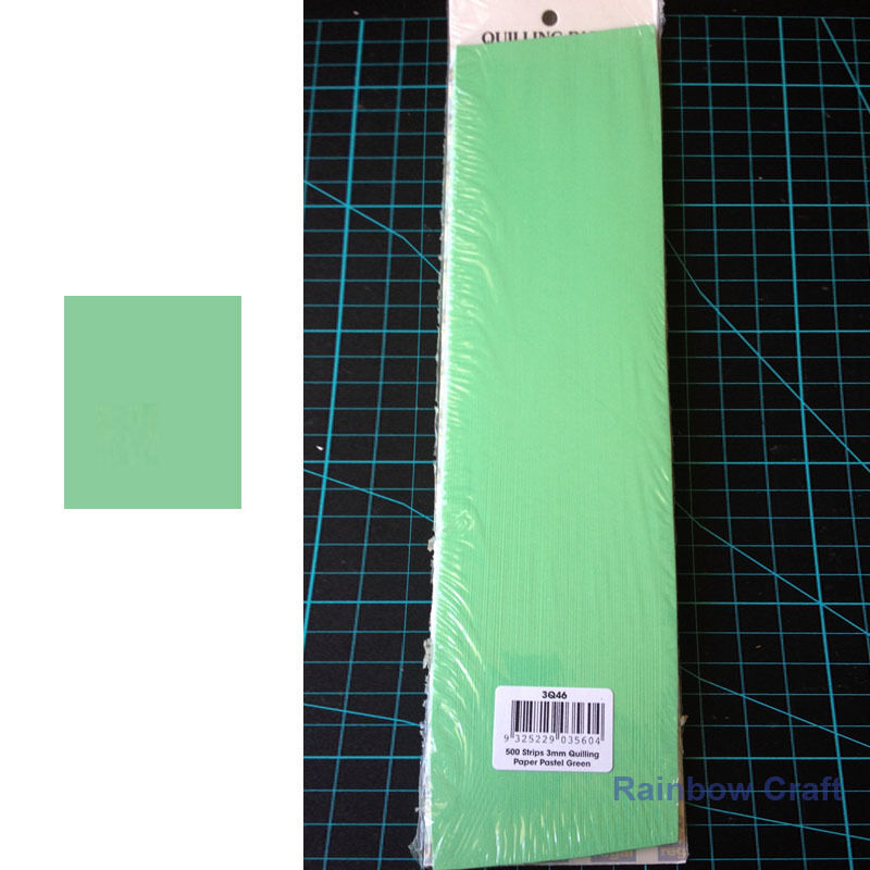 500 Strips 3mm Quilling Paper (110GSM) 8 multicolor & 27 single colors /U select - Pastel Green