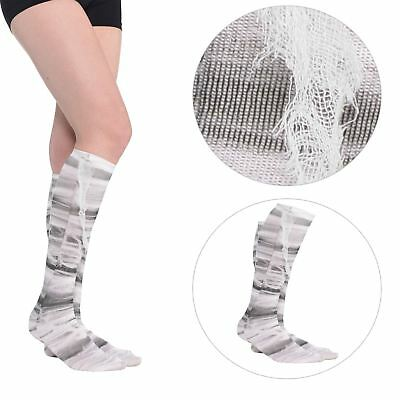 Ladies Mummy Bandage Wrap Socks Halloween Costume Accessory Monster Zombie Dead