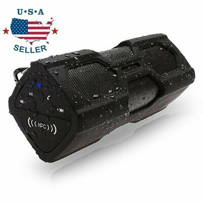 Portable Wireless Speaker Waterproof Power Bank Super Bass R