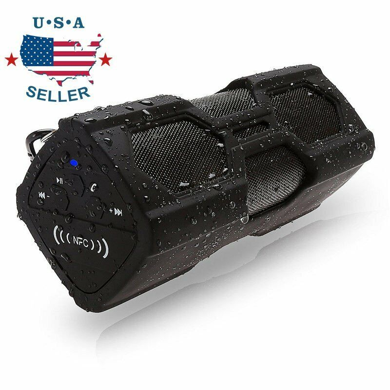 Portable Bluetooth Wireless Speaker Waterproof Power Bank Super Bass Stereo NFC