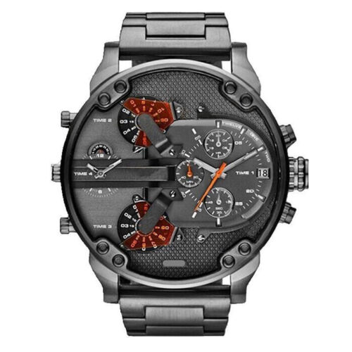 Men's Fashion Luxury Watch Stainless Steel Sport Analog Quartz Wristwatches US