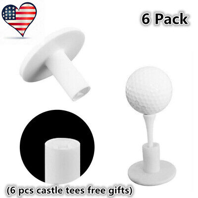 Golf Tees Dura Rubber Tee For Driving Range Practice Mat New 6 Pack 1.5