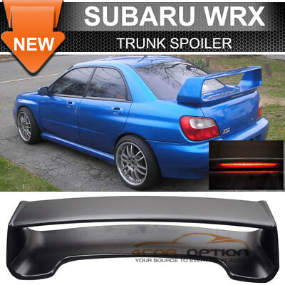 Fit 02-07 Subaru Impreza WRX Sti OE Factory ABS Rear Trunk Spoiler Unpainted
