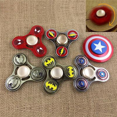 Metal Hand Spinner Metal Fidget Spinner Marvel Batman/Superman/Spiderman/Ironman