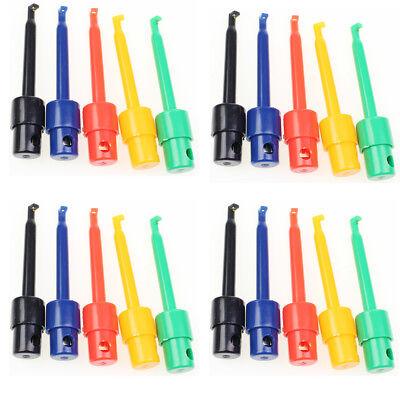 20 Pcs Lead Wire Kit Test Hook Clip Grabbers Test Probe SMT/SMD for Multimeter