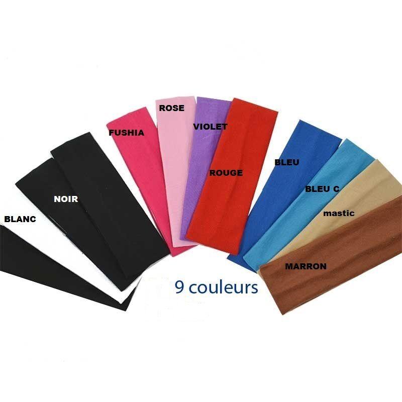 Stirnband für Haare sport Haarband elastisch Stretch yoga 10 Farben