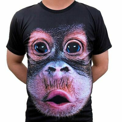 Poly Tee (3D Druck Affengesicht T-shirts Sommer Tops Tees Kurzarm Polyester Unisex Pärchen)