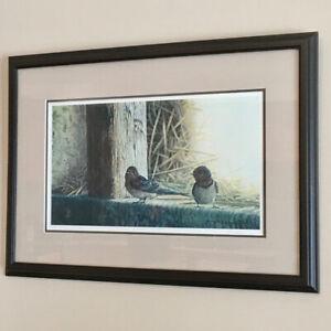 "Mark Wysen Framed Numbered Print ""Martin's Barn - Barn Swallows"""