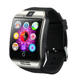 Q18 Smart Bluetooth Sport Watch Tracker Wristband for Android SIM Card Silver
