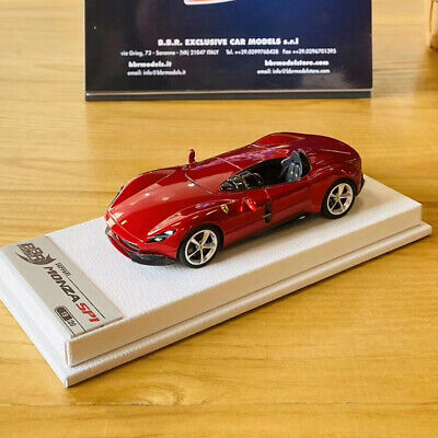 BBR 1:43 Scale Ferrari Monza SP1 2018 Rosso Portofino Car Model Collection NEW