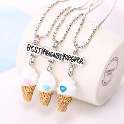 Novelty Best Friend Pendant Necklace Ice Cream Charm Chain For Children Gift