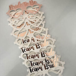10PCS TEAM BRIDE TO BE GLASSES ROSE GOLD HEN NIGHT PARTY PHOTO PROPS ACCESSORIES
