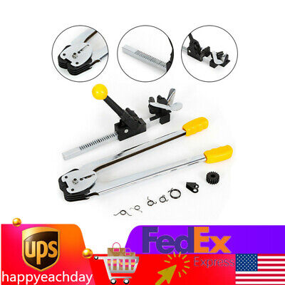 Strapping Binding Tool Machine Ratchet-action Tool Tensioner Crimper Set Sealer