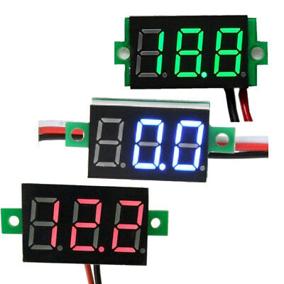 Dc4.54.75-30v Two Wires Digital Motorcycle Voltmeter 0.36 Led Display 1pcs