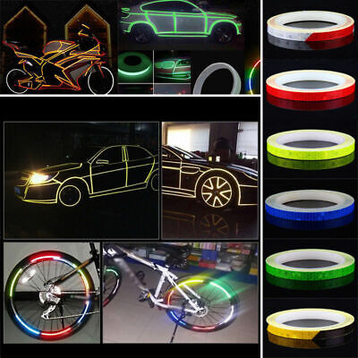 5 colors Motorcycle Rim Tape Reflective Wheel Stickers Decals Vinyl (Colorful Rims)