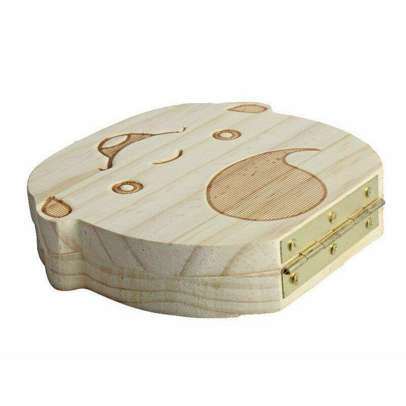 как выглядит Wooden Kids Baby Tooth Box Organizer Teeth Wood Storage Box for Boy Girl фото