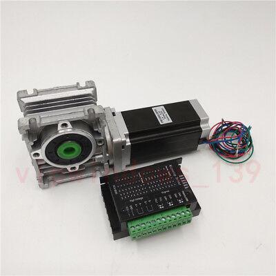 Nema23 1.8nm Hybrid Stepper Motor Worm Gearbox Reducer Driver Tb6600 Cnc Kit