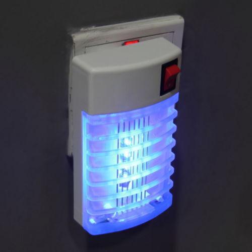 LED Presa Elettrica Zanzara Mosche Trappola Per Insetti Lampade Notturne Ammazza