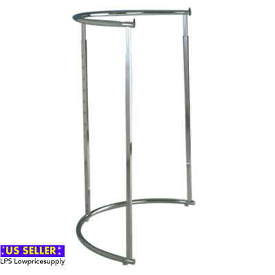 Retail Half Round Clothes Product Display Rack Chrome  New Fast Shipping