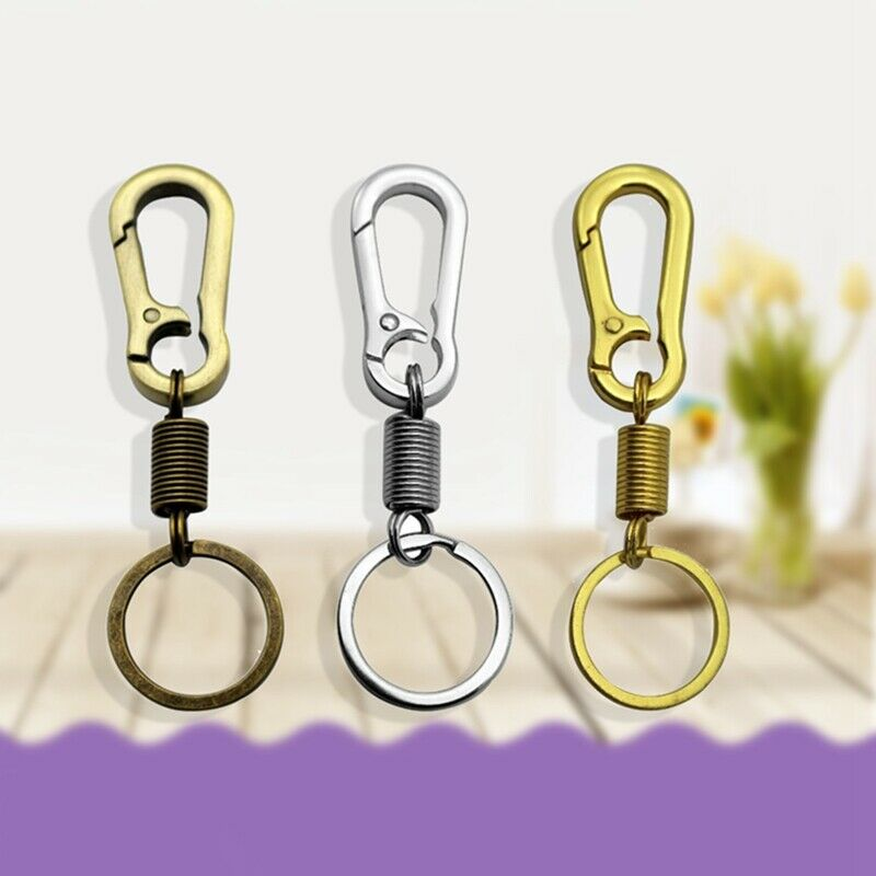 Stainless Steel Gourd Buckle Carabiner Retractable Keychain