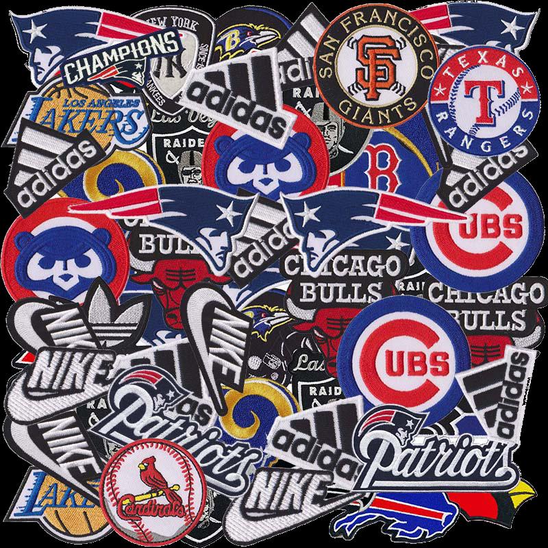 Iron On Patch Wholesale Sports Nation Football Baseball Basketball Hockey Random
