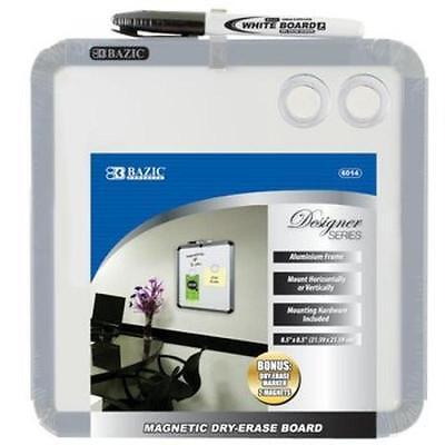 Bazic Brand 8.5 X 8.5 Magnetic Dry Erase Board With Marker 2 Magnets