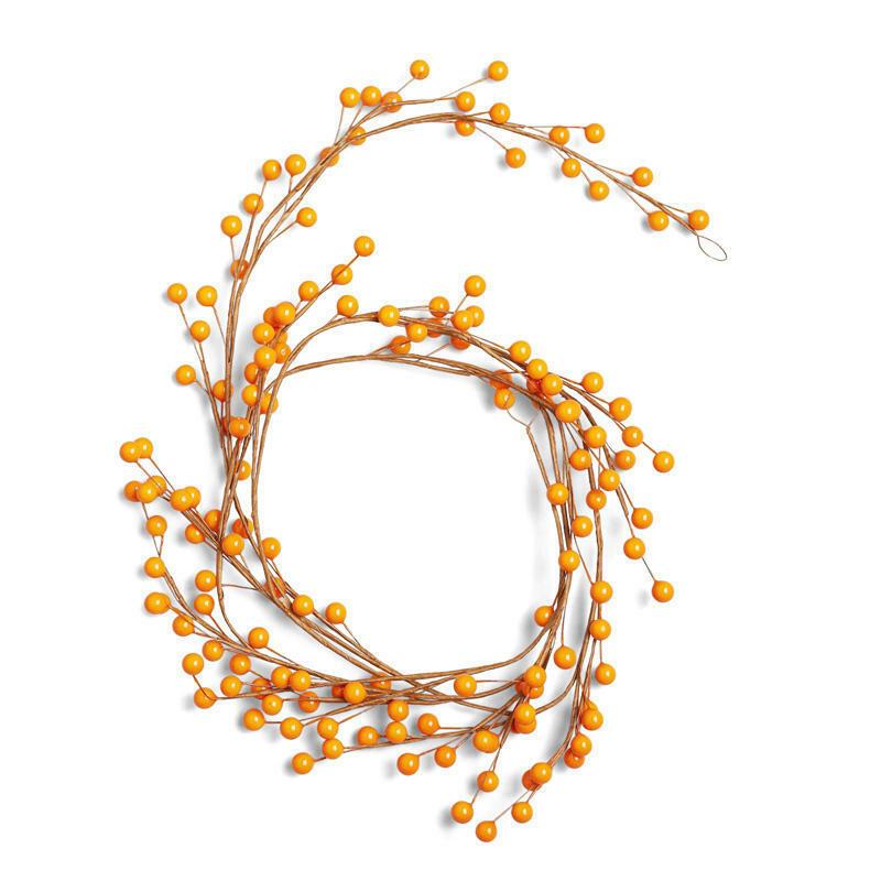 Factory Direct Craft Autumn Orange Berry Garland