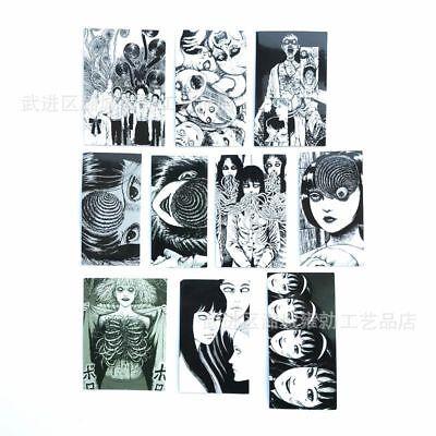 10pcs Japanese Anime Junji Ito Stickers DIY Notebook Scrapbooking Supplies (Diy Notebook)