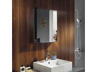 Stainless Steel Wall Mounted Bathroom Storage Cabinet Mirror Single Door.... brand new