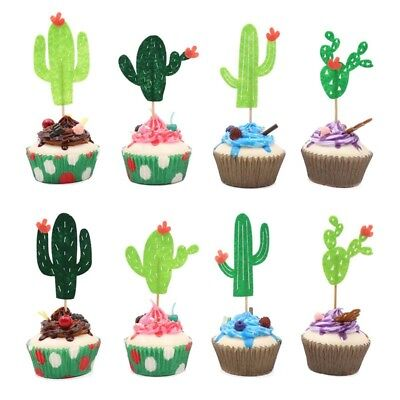 Nice Life Cactus Cupcake Toppers Fiesta West Cacti Theme Birthday Party Supplies