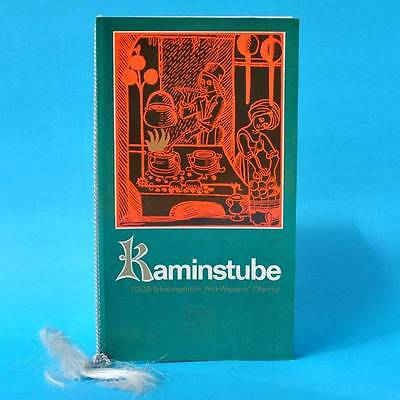 Kaminstube Oberhof FDGB-Erholungsheim 1976 | Speisenkarte Getränkekarte DDR