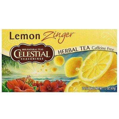 Celestial Seasonings Herbal Tea Caffeine Free Lemon Zinger -