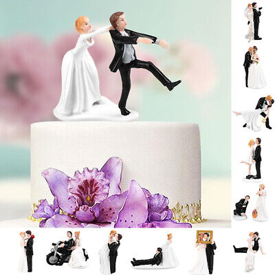 Romantic Bride and Groom Wedding Cake Topper Couple Hug Kiss Bridal Decoration Bride And Groom Kiss