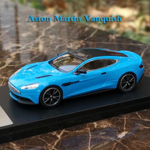 Original 1 43 Scale Aston Martin Vanquish Blue Super Sports Car Model Diecast Ebay