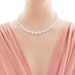 Tiffany & Co.  Silver Graduated Pearl Necklace