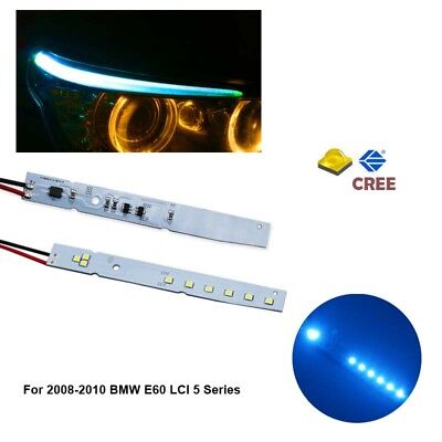 (Eyelid Eyebrow LED Module For BMW E60 E61 LCI 07-10 XENON ICE BLUE NEW SYSTEM)