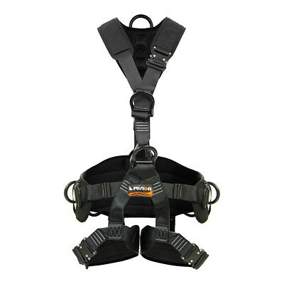 Fusion Climb Tac Rescue Tactical Full Body EVA Padded Heavy Duty Harness M-L