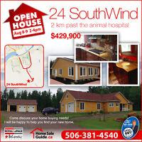 OPEN HOUSE MONCTON Aug 8-9 2-4 pm 24 SouthWind Drive