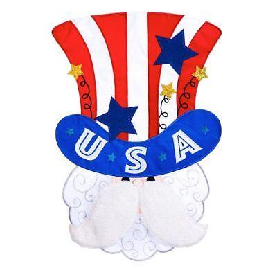 "Uncle Sam 168667BL Applique Garden Flag 12.5"" x 18"""