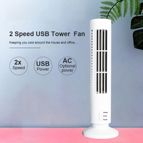 Tower Bladeless Desk Home Fan Mini Portable USB Cooling Air