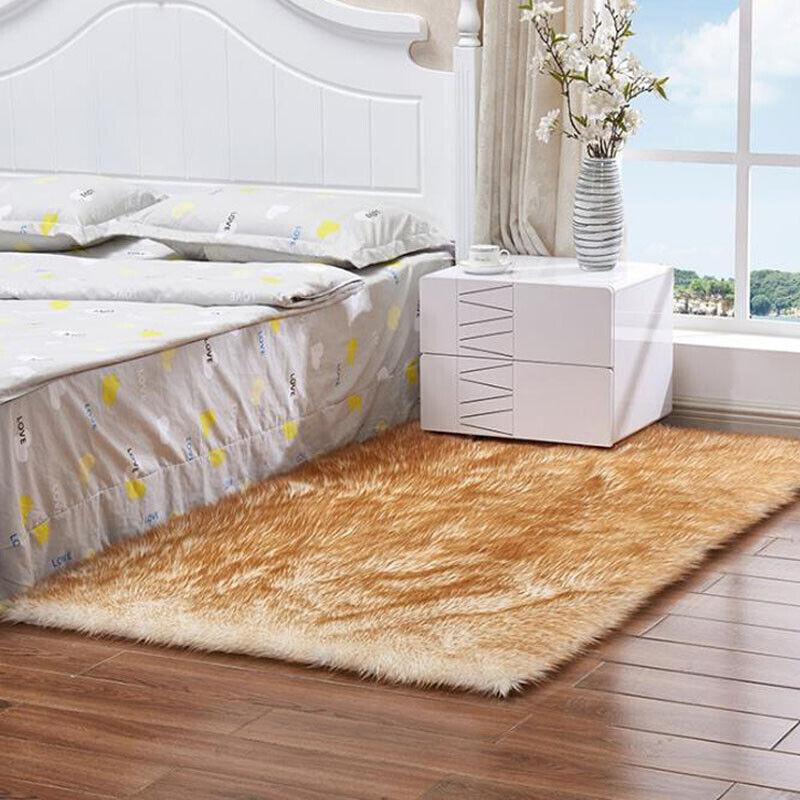 Fluffy Anti-Skid Rugs Bedroom Living Floor Carpet
