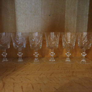 Vintage Cut Crystal Glasses Cream Sugar Pinwheel Stunning Set 18 Kitchener / Waterloo Kitchener Area image 2