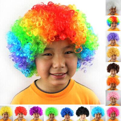 Fußballfan Kinder Erwachsene Neuheit Kostüm Party Afro Curly - Neuheit Perücken