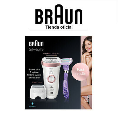 Depiladora eléctrica femenina Braun Silk-épil 9 870 Wet&Dry - Sensor SensoSmart