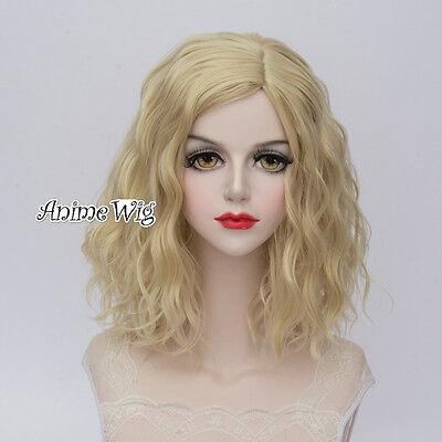 35CM Lolita Ladies Fancy Light Blonde Curly Hair Heat Resistant Cosplay - Fancy Heat