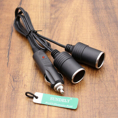 NEW 12v Twin Double Socket Adaptor Car Van Auxilary Cigarrette Lighter UK STOCK