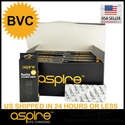 Authentic Aspire Nautilus  Bvc 1 8 Ohm Coils   Us Seller   Free Shipping