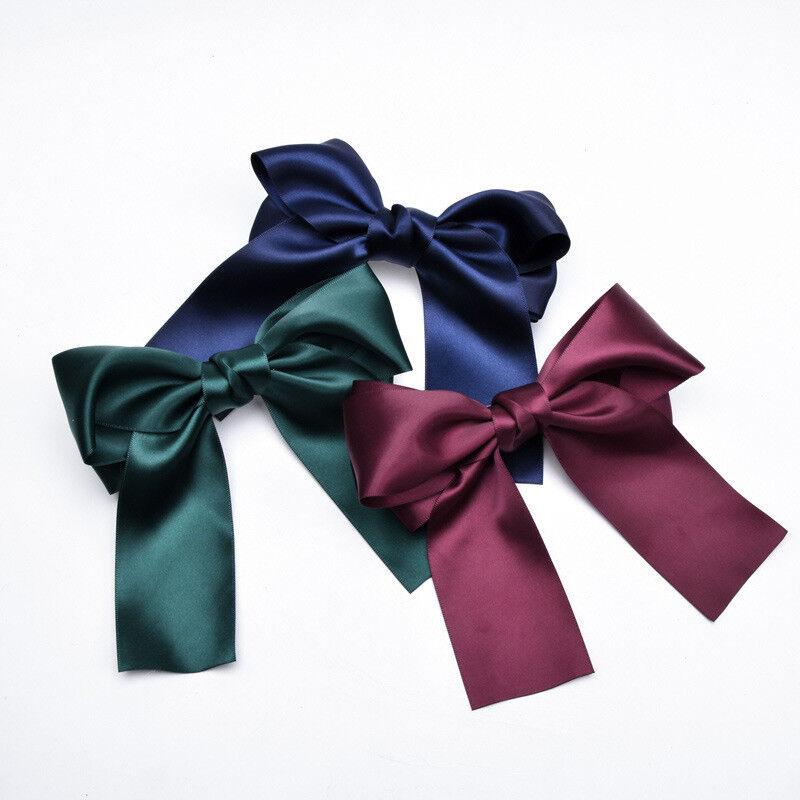 Fashion Ladies Bow Hairpin Ribbon Hair Clip Pin Fabric Hair Barrette Accessories