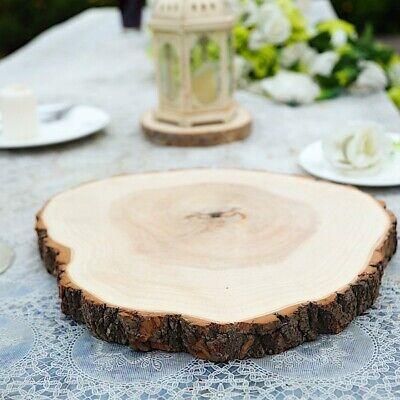 "14-18"" Natural Round Poplar Wood Slices Wedding Centerpieces Crafts Decorations"